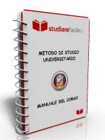 manuale corso metodo di studio universitario