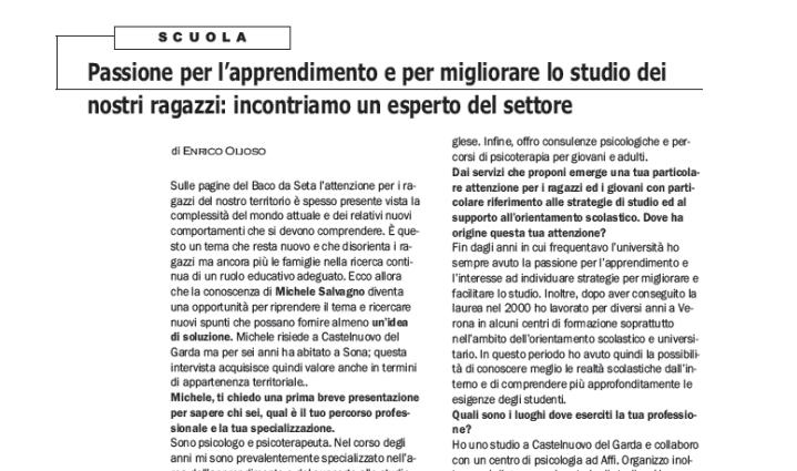 Intervista dott. Michele Salvagno metodo di studio